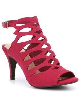 Gianni Bini Halven Nubuck Leather Caged Dress Sandals by Gianni Bini