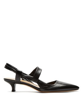 Coco Twist Slingback Leather Pumps by The Row