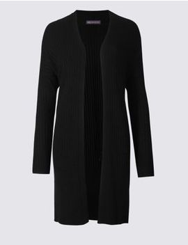 Open Front Long Sleeve Cardigan by M&S Collection