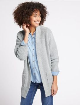 Textured Longline Cardigan by M&S Collection