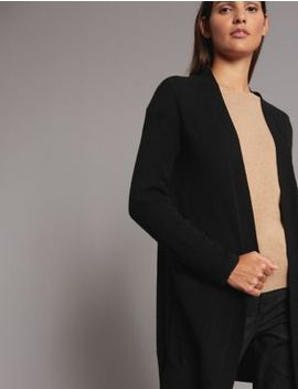 Pure Cashmere Textured Longline Cardigan by Autograph