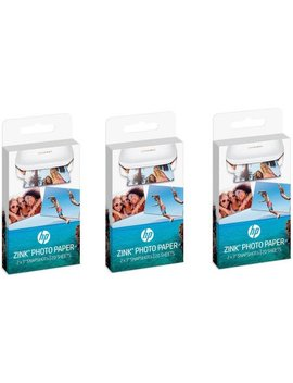 Hp Zink Sticky Backed Photo Paper, 3 Pack by Hp