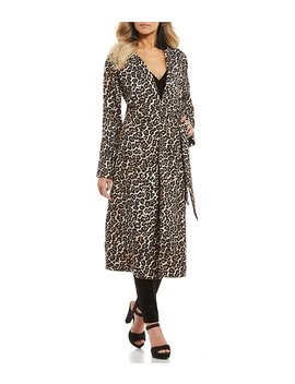 Leopard Trench Coat by Gb