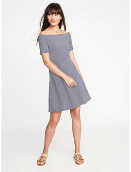 Fit & Flare Off The Shoulder Dress For Women by Old Navy