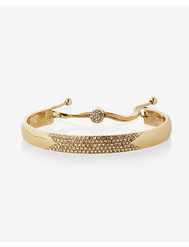 Pull Chain Pave Bangle Bracelet by Express