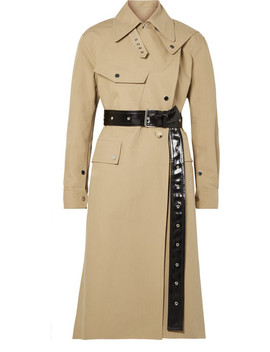 Belted Cotton Canvas Trench Coat by Helmut Lang