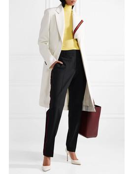 Grosgrain Trimmed Twill Blazer by Calvin Klein 205 W39 Nyc