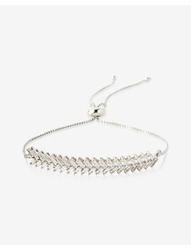 Metal Zigzag Pull Cord Bracelet by Express