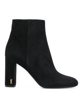 Saint Laurent Women's  Black Leather Ankle Boots by Saint Laurent