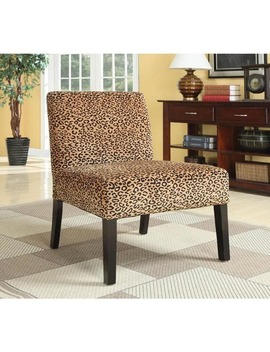 Plush Oversized Leopard Print Accent Chair by Generic