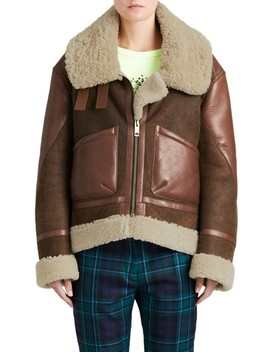 Blexley Genuine Shearling Coat by Burberry