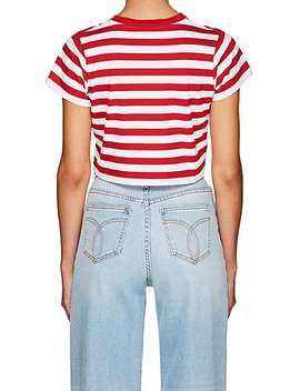 Striped Jersey Crop T Shirt by Fiorucci