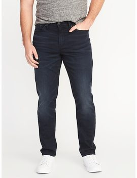 Athletic Built In Flex Blue Black Jeans For Men by Old Navy