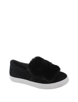 Tia Faux Fur Slip On Sneaker by Yoki