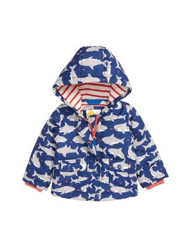Print Hooded Jacket by Mini Boden