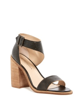 Mayfair Distressed Leather Block Heel Sandal by Kelsi Dagger Brooklyn