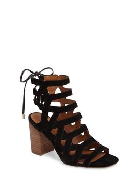 Connie Block Heel Cage Sandal (Women) by Sarto By Franco Sarto