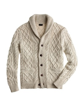 Donegal Wool Cable Cardigan by J.Crew
