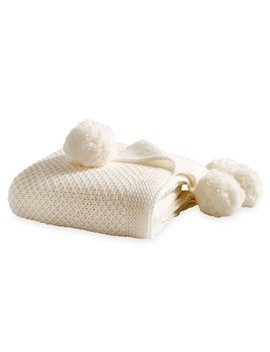 Better Homes And Gardens Knit Pom Pom Throw Blanket by Better Homes And Gardens