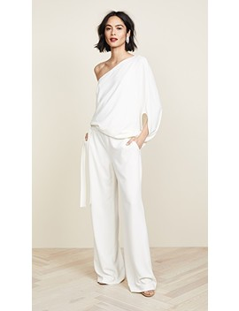 Asymmetrical Wide Leg Jumpsuit by Halston Heritage
