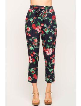 Floral Eden Tie Front Trouser by A'gaci