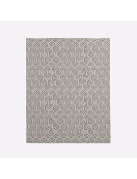 Radiating Ovals Wool Rug   Platinum by West Elm