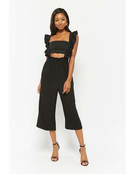London Rose Ruffle Culotte Jumpsuit by Forever 21