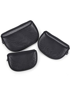 Miracu 3 Pcs Mesh Cosmetic Bags For Women In Large, Medium, Small Size Travel Toiletry Bags Makeup... by Miracu