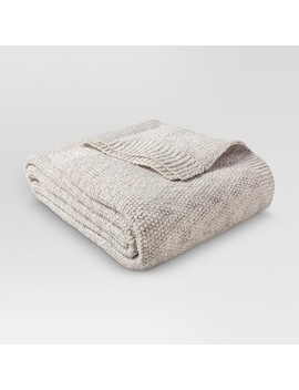 Sweater Knit Blanket Hot Coffee & Sour Cream (Twin)   Threshold™ : Target by Target