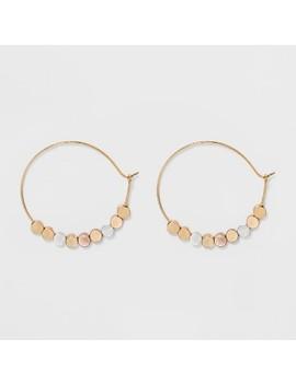Brass Beads Hoop Earrings   Universal Thread™ Gold by Universal Thread™
