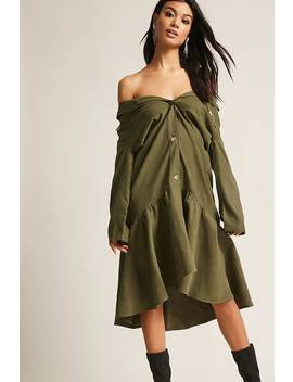 Flounce Hem Drop Waist Dress by F21 Contemporary