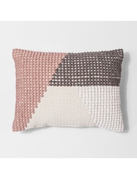 Texture Color Block Lumbar Pillow   Project 62™ by Project 62™