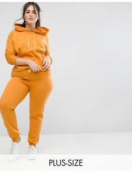 South Beach Plus Cropped Hoodie & Joggers In Mustard by Asos Brand