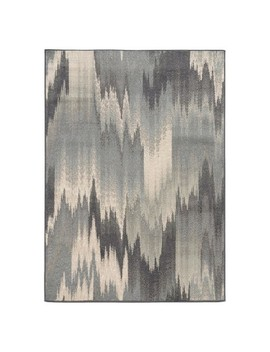 Modern Waves Area Rug   Gray by Target