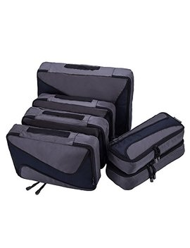 6 Set Packing Cubes   3 Various Sizes Luggage Packing Organizers For Travel by Aomidi
