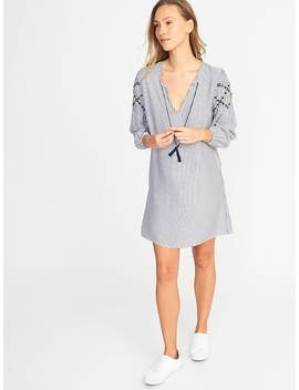 Tassel Tie Boho Shift Dress For Women by Old Navy