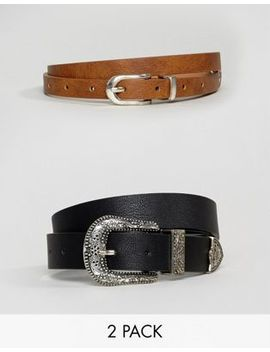 Asos 2 Pack Western Waist & Hip Belts by Asos Collection