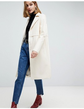 Asos Faux Leather Trench Coat by Asos Collection