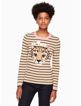 Leopard Stripe Sweater by Kate Spade
