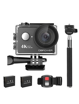 Dbpower 4 K Action Camera 12 Mp Ultra Hd Waterproof Sports Cam With Built In Wi Fi 170 Degree Wide Angle Lens 2 Inch Lcd Screen Plus 1050m Ah Rechargeable Battery (Camera+Accessories) by Dbpower
