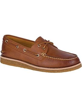 Men's Gold Cup Authentic Original 2 Eye Crepe Boat Shoe by Sperry