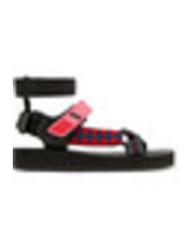 Canvas, Rubber And Leather Sandals by Prada