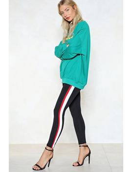 End Of The Line Striped Leggings by Nasty Gal