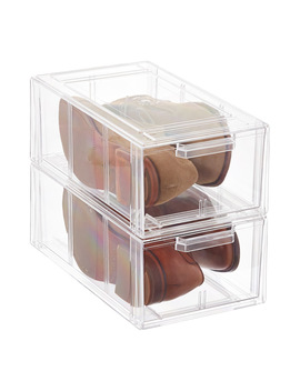 Clear Stackable Men's &Amp; Athletic Shoe Drawer by Container Store