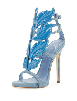 Denim Wing 110mm Sandal by Giuseppe Zanotti