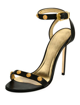Tribute Strappy Studded Sandal by Versace Collection