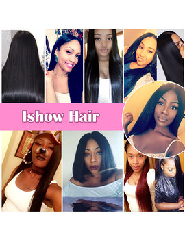 Ishow Hair 4 Bundles Straight Hair Brazilian Hair Weave 4 Bundles Deal 8 28inch Double Weft 100 Percents  Non Remy Human Hair Extensions  by Ishow Hair Official Store
