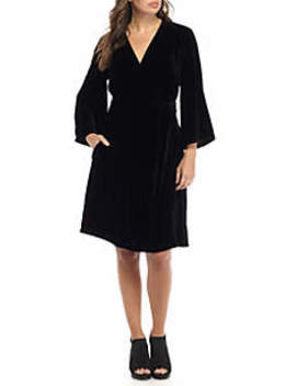 V Neck Wrap Dress by Eileen Fisher