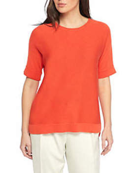 Round Neck Elbow Sleeve Top by Eileen Fisher