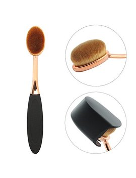 Premium Face Brush Make Up Brush Foundation Cream Powder Blush Facial Makeup Brush Tool Contouring Cosmetics Smooth Brushes Easy To Blend(Gold Rose) by Mermaid